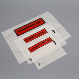 Adhesive-backed 'Documents Enclosed' envelopes