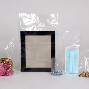 """Small (5""""-8""""wide) clear recyclable polythene bags"""