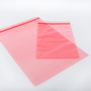 Antistatic grip-seal bag